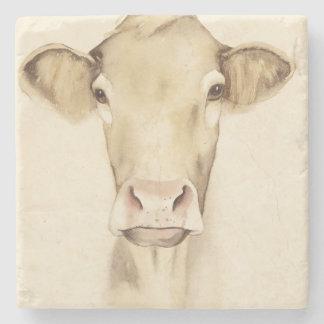 Dessous-de-verre En Pierre Vache aux animaux | de grange d'aquarelle