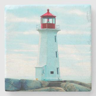 Dessous-de-verre En Pierre Vieux phare, océan bleu, maritime, nautique