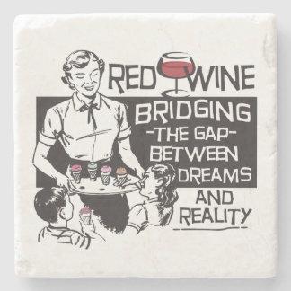 Dessous-de-verre En Pierre Vin rouge