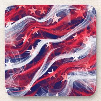 Dessous de verre en plastique durs de drapeau