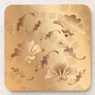 Dessous-de-verre Ensemble floral beige de caboteur modifié la tonal