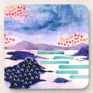Dessous-de-verre Ensemble pour aquarelle coloré et d'amusement de