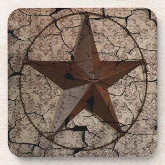 Dessous-de-verre Étoile de Texas primitive rustique de pays