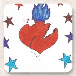 Dessous-de-verre Étoiles et coeur