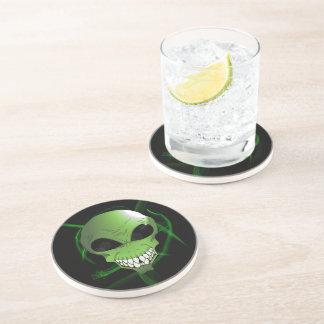Dessous de verre étrangers verts de boissons de