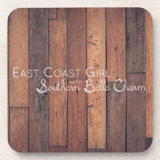 Dessous-de-verre Fille de Côte Est avec le charme du sud de belle