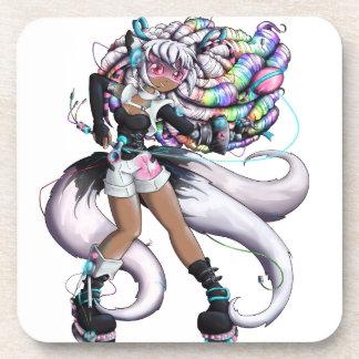 Dessous-de-verre Fille de Kitsune de Cyber