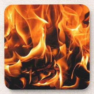 Dessous-de-verre flammes