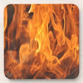 Dessous-de-verre Flammes - trop chaudes à manipuler