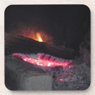 Dessous-de-verre Flèches de la chaleur de flamme du feu en bois