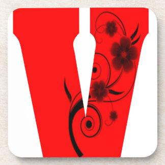 Dessous-de-verre Fleur de la lettre V