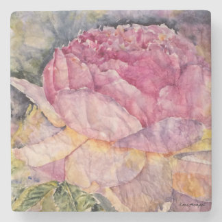 Dessous de verre floraux de pierre de conception dessous-de-verre en pierre