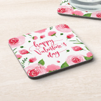 Dessous de verre floraux élégants de la heureuse