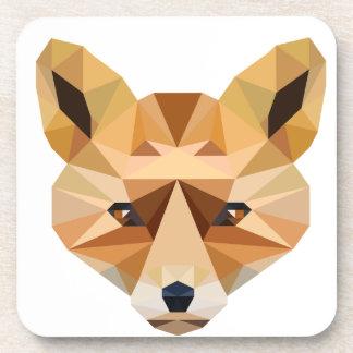Dessous-de-verre Fox de polygone