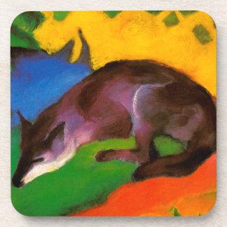 Dessous-de-verre Fox noir bleu de Franz Marc