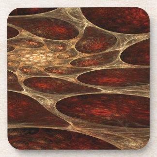 Dessous-de-verre Fractale rouge poreuse