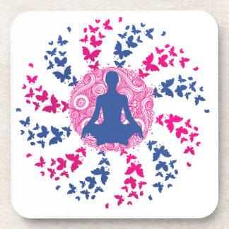 Dessous-de-verre fre positif de paix de l'esprit d'énergie de