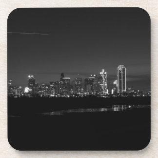 Dessous-de-verre Gamme de gris de Pano d'aube d'horizon de Dallas