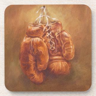 Dessous-de-verre Gant de boxe rustique des sports |