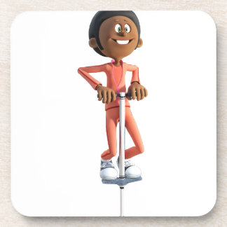 Dessous-de-verre Garçon d'Afro-américain de bande dessinée sur un