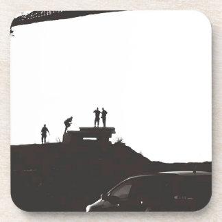 Dessous-de-verre Garçons sur la colline