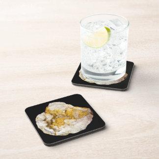 Dessous-de-verre Geode demi avec la photo blanche et jaune de