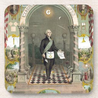 Dessous-de-verre George Washington en tant que franc-maçon