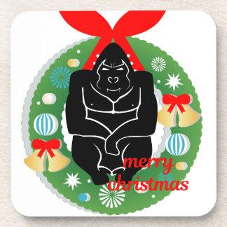 Dessous-de-verre gorille de Joyeux Noël
