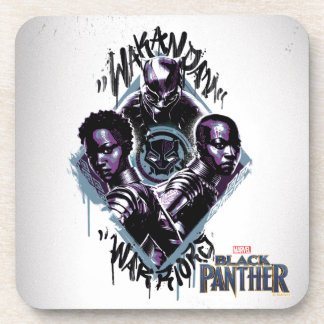 Dessous-de-verre Graffiti de guerriers de la panthère noire |