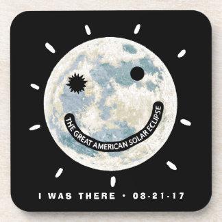 Dessous-de-verre Grande lune américaine Emoji d'éclipse solaire