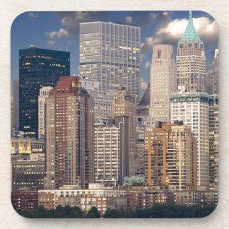 Dessous-de-verre Gratte-ciel de Manhattan le Hudson d'horizon de