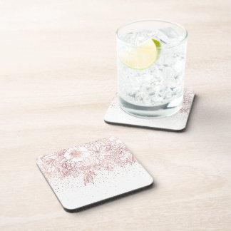 Dessous-de-verre Griffonnages floraux tirés par la main et