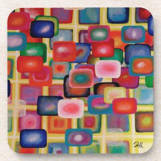 """Dessous de verre """"grille carrée """" de concepteur"""