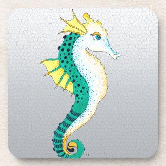 Dessous-de-verre gris turquoise d'hippocampe