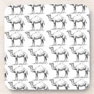 Dessous-de-verre groupe de troupeau de chameaux
