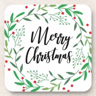 Dessous-de-verre Guirlande de Noël, Joyeux Noël, bonnes fêtes