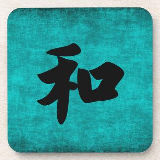 Dessous-de-verre Harmonie dans la peinture bleue de caractère