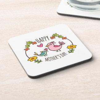 Dessous de verre heureux adorables du jour de mère