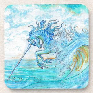 Dessous-de-verre Hippocampe bleu de cheval de poissons de licorne