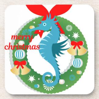 Dessous-de-verre hippocampe de Joyeux Noël