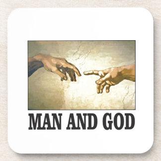Dessous-de-verre homme et dieu