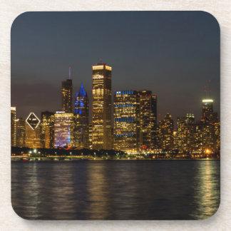 Dessous-de-verre Horizon Chicago Pano de nuit