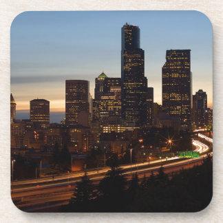 Dessous-de-verre Horizon de nuit de Seattle