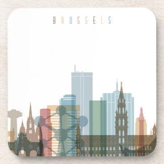 Dessous-de-verre Horizon de ville de Bruxelles, Belgique |