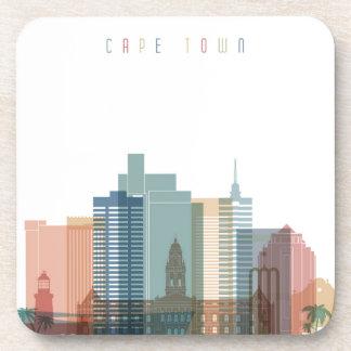 Dessous-de-verre Horizon de ville de Cape Town, Afrique  