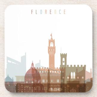 Dessous-de-verre Horizon de ville de Florence, Italie |