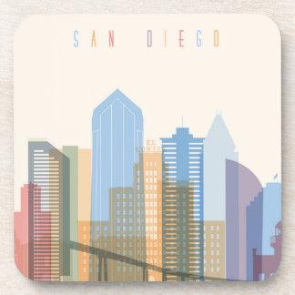 Dessous-de-verre Horizon de ville de San Diego