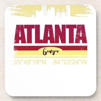 Dessous-de-verre Horizon grunge d'Atlanta la Géorgie