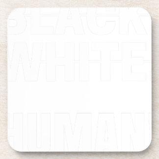 Dessous-de-verre Humain blanc noir - nous sommes tous les êtres