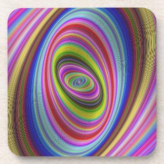 Dessous-de-verre Hypnose colorée